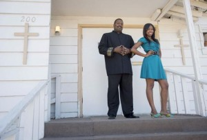 Eighteen-year-old Taylor with her father Pastor Ken Coleman of City of Refuge Pentecostal Church