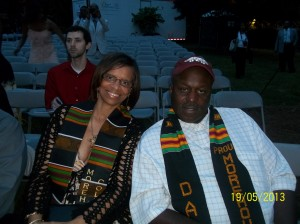 Gary and Thomasina Williams were among the first to arrive for the graduation ceremony...