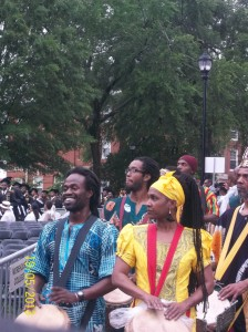 I was taking notes while dancing as these drummers announced the arrival of the graduates...