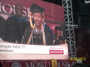 Betsegaw Tadele, the valedictorian of the 2013 Morehouse