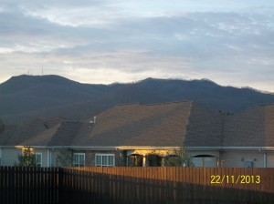 The mountains from my parents' hotel room...