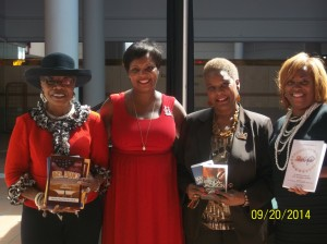 From left to right, Dr. Martha Ward Plowden, L.D. Wells, Brenda Jackson, Dr. Fran Breakfield