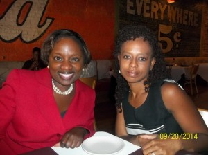 Don't we look hungry? LOL...Me & Angela Ray...