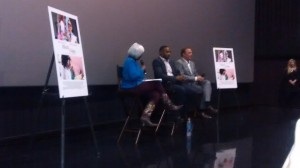 Journalist Monica Pearson interviews Anthony Mackie & Kevin Costner at the screening...(still learning how to use my first smartphone :) )