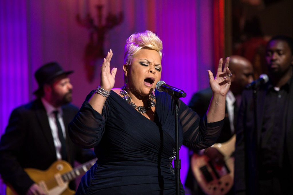 "Tamela Mann performs during ""The Gospel Tradition: In Performance at the White House"" in the East Room of the White House, April 14, 2015. (Official White House Photo by Pete Souza) This photograph is provided by THE WHITE HOUSE as a courtesy and is for promotional use only on the PBS website as related to the airing of ÒThe Gospel Tradition: In Performance at the White House"" concert. The photograph may not be manipulated in any way and may not otherwise be reproduced, disseminated or broadcast, without the written permission of the White House Photo Office. The photograph may not be used in any commercial or political materials, advertisements, emails, products, promotions that in any way suggests approval or endorsement of the President, the First Family, or the White House."