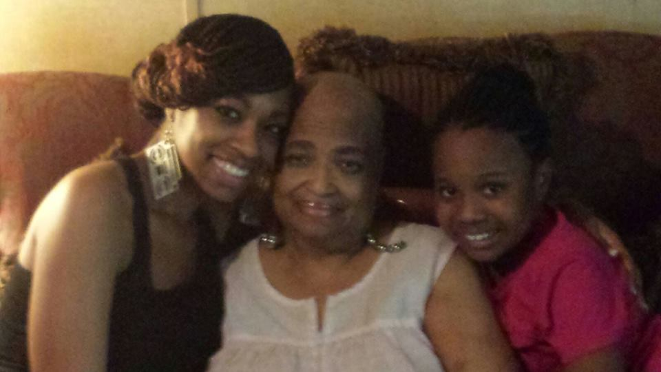 Keisha Pooler, her mother Mary Marshall and Keisha's daughter