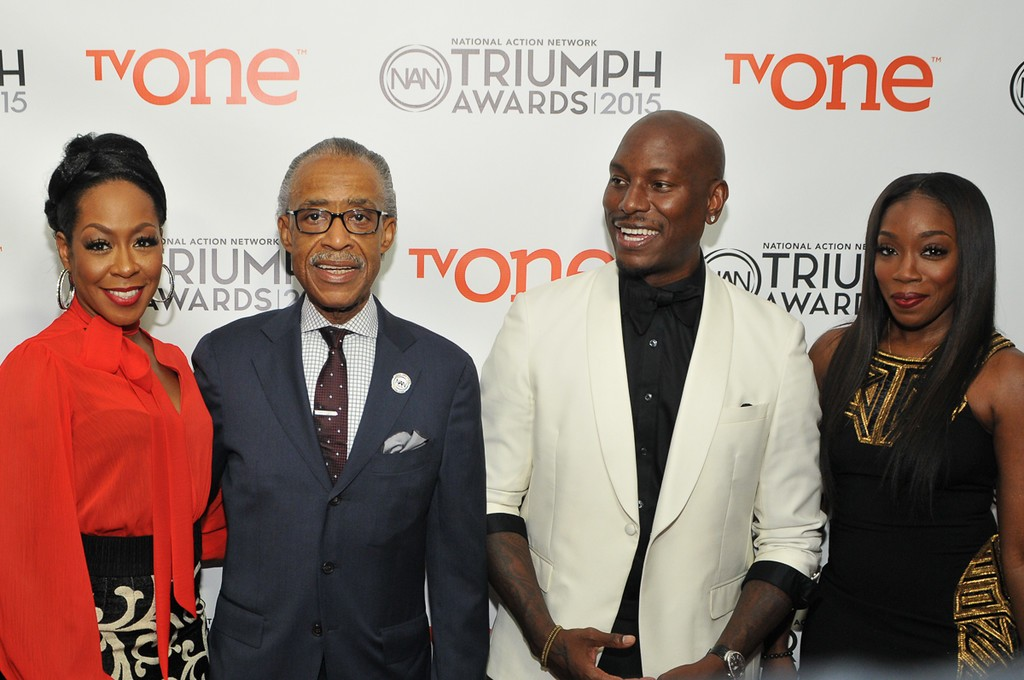 From left to right: Tichina Arnold, Rev. Al Sharpton, Tyreee Gibson & Estelle
