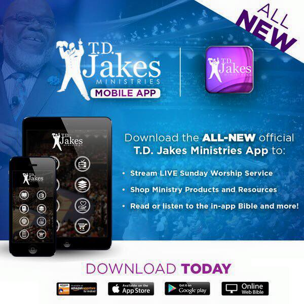 Bishop T D  Jakes Introduces Interactive Bible App! - After