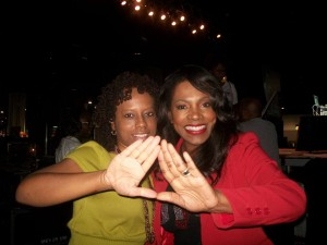 Me and Sheryl Lee Ralph, my soror and fellow Jamerican, at For Sisters Only in 2011.